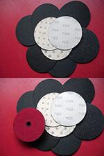 Extra шкурки нождачные, диаметр 125 мм.